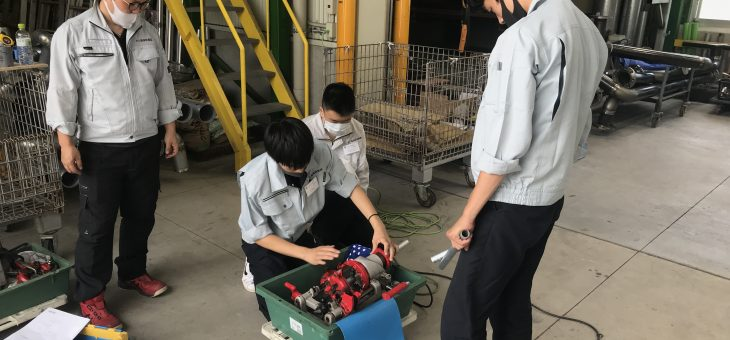 安芸高校の生徒さんが職場体験に来られました!
